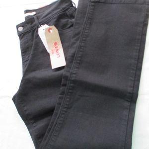 NWT - LEVI'S black 505 Straight jeans - sz 8 S